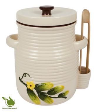 Augurkenpot 3 liter (wit)