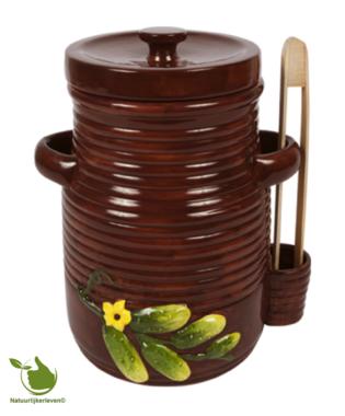 Augurkenpot 3 liter (bruin)