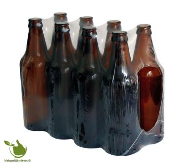 Bierfles van 0,5 l verpakt per 8 st.
