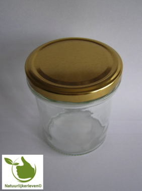 Jampotten 346 ml met twist-off deksel goud