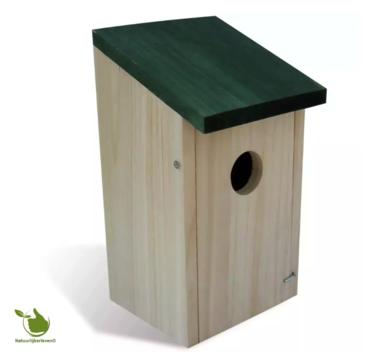 Vogel nestkast schuin dak (groen)