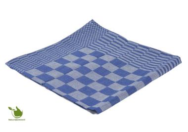 Theedoek blok 65x65cm blauw 6 stuks