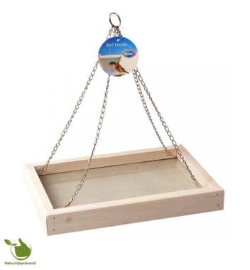 Vogel voedertafel hangmodel Wit cottage 30x20x4cm