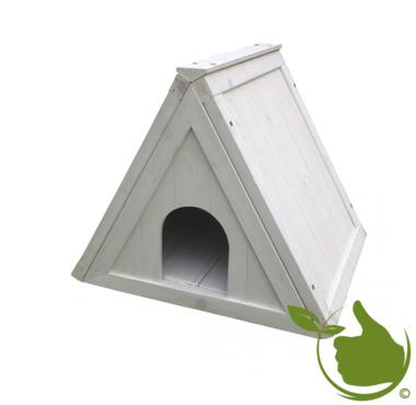 Woodland driehoek schuilhok cottage Wit 52x42x42cm