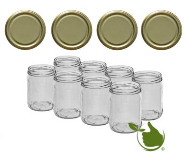 Inmaakpotten 500 ml met twist-off deksel goud