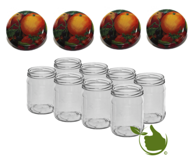 Inmaakpotten 500 ml met twist-off deksel (Fruit classic) 8 stuks