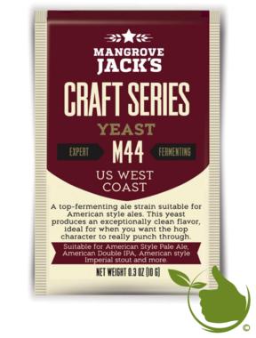 Gedroogde biergist US West Coast M44 – Mangrove Jack's Craft Series - 10 g
