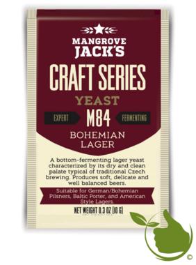 Gedroogde biergist Bohemian Lager M84 – Mangrove Jack's Craft Series - 10 g