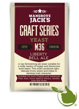 Gedroogde biergist Liberty Bell Ale M36 – Mangrove Jack's Craft Series - 10 g