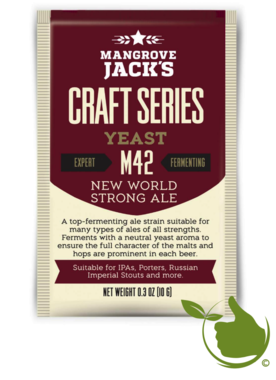 Gedroogde biergist New World Strong Ale M42 – Mangrove Jack's Craft Series - 10 g