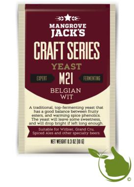 Gedroogde biergist Belgian Wit M21 – Mangrove Jack's Craft Series - 10 g