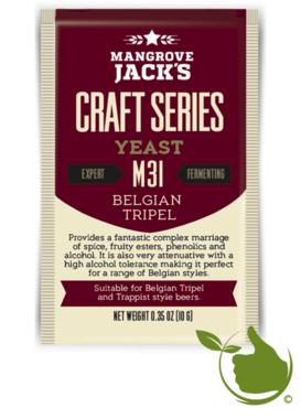 Gedroogde biergist Belgian Tripel M31 – Mangrove Jack's Craft Series - 10 g