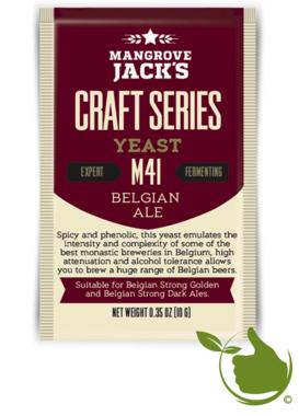 Gedroogde biergist Belgian Ale M41 – Mangrove Jack's Craft Series - 10 g