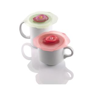 Drink Cover Rose Pink/Green- Set van 2 - 10cm Charles Viancin