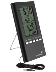 Klokthermometer - zwart