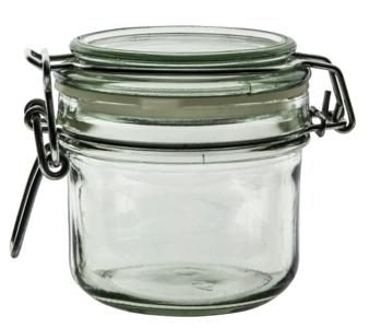 Glazen voorraadpot van 200 ml met klemsluiting