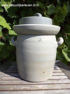 Zuurkoolpot 6 liter (grijs/klassiek)