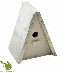 Mezenkast blokmodel galva dak 20x15x25cm wit