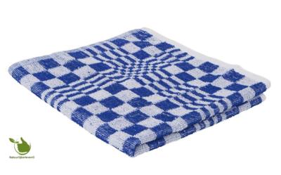 Keukendoek / Handdoek blok 50x50cm blauw 3 stuks
