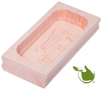 Botervorm rechthoek voor 500g boter - motief: koe