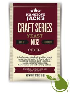 Gedroogde biergist Cider M02 – Mangrove Jack's Craft Series - 10 g