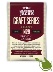 Gedroogde biergist French Saison M29 – Mangrove Jack's Craft Series - 10 g