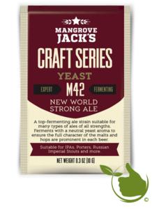 Gedroogde biergist New World Strong Ale M42 – Mangrove Jack's Craft Series - 10 g