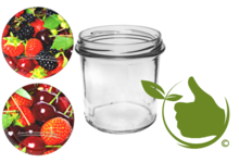 Jampot 346ml met twist-off deksel (fruit design)